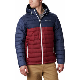 Columbia Powder Lite Hooded Jacket Herren red jasper/collegiate navy